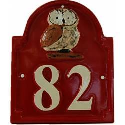 Numéro de maison – NUM1-HIB-bor/bla
